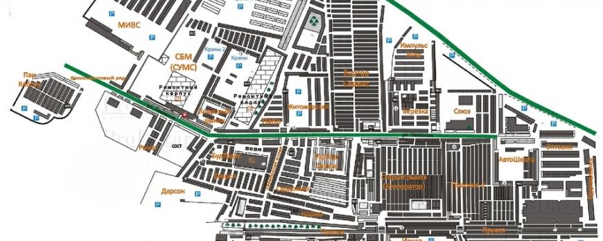 Хмельницкий рынок, карта Хмельницкого рынка.