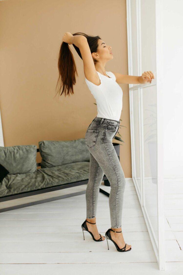 Женские джинсы скинни Woox 1127-1