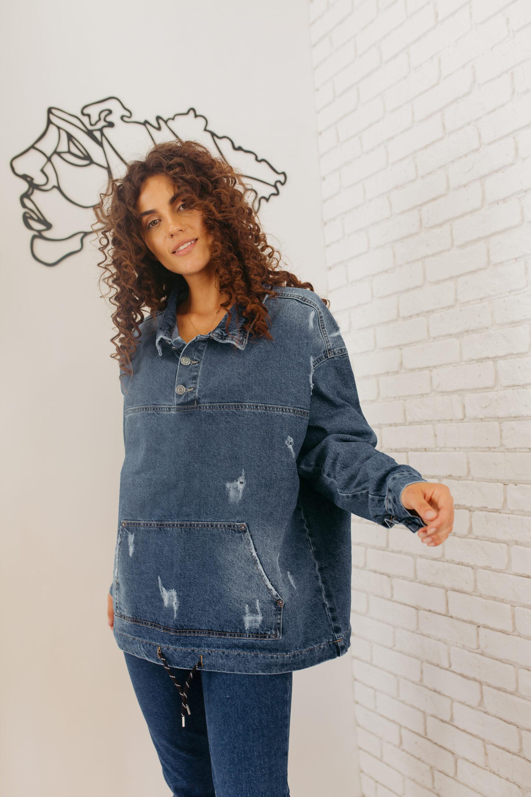 Женский джинсовый бомбер ROCCA bomber