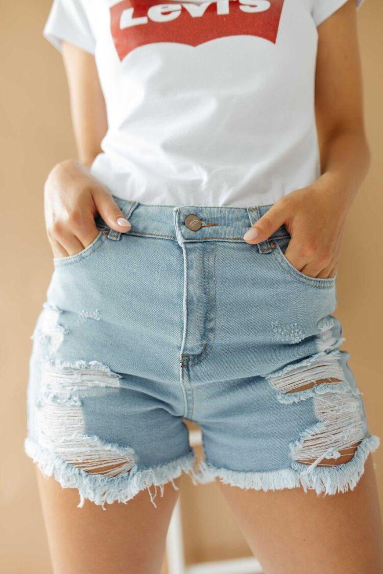 Женские джинсовые шорты 191050