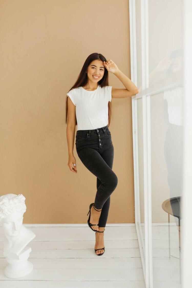 Женские джинсы скинни 869-1