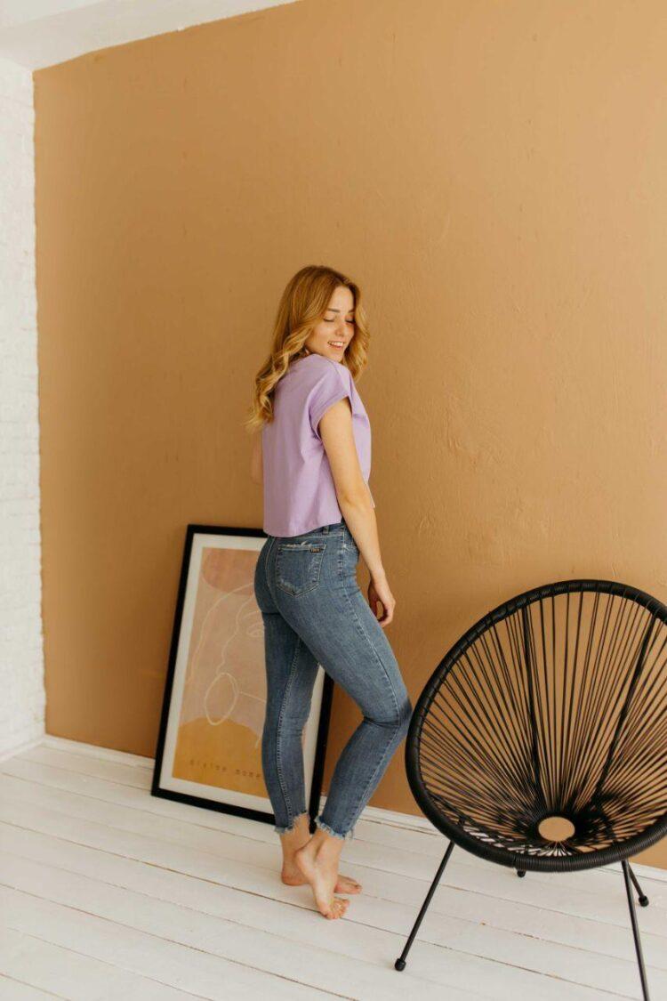 Женские джинсы скинни Woox 0741-1