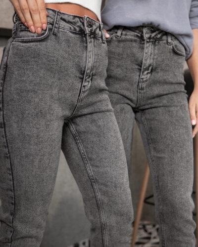 Женские джинсы МОМ FAF с серой варкой 1979