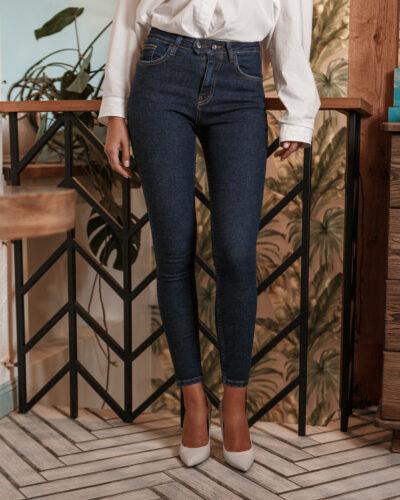 Женские джинсы темного цвета ESQUA 2025-13853