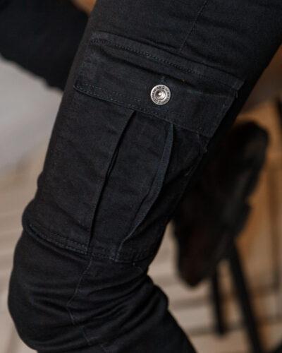 Женские джинсы карго Woox в черном цвете K100