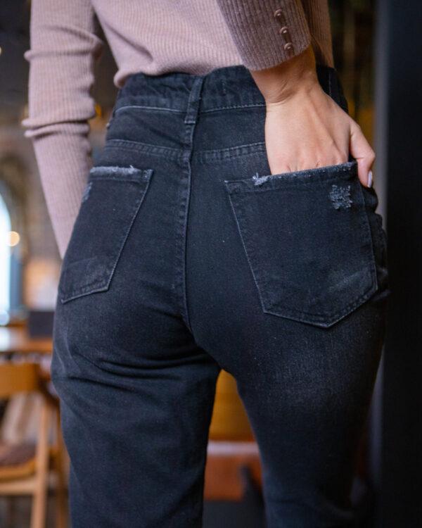 Черные женские джинсы МОМ 373